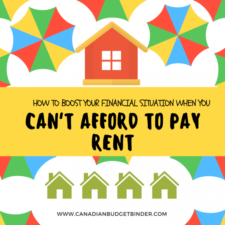 How To Boost Your Financial Situation When You Can't Afford To Pay Rent