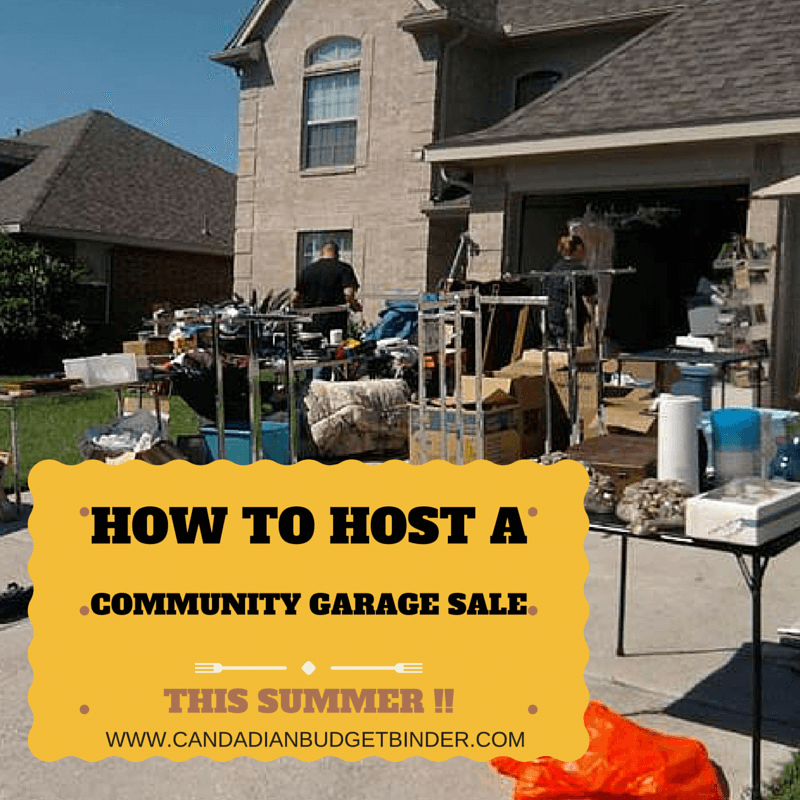 How To Host A Community Garage Sale This Summer : The