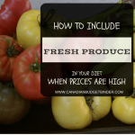 How to include Fresh Produce In Your Diet When Prices Are High : The Grocery Game Challenge 2016 #2 June 6-12