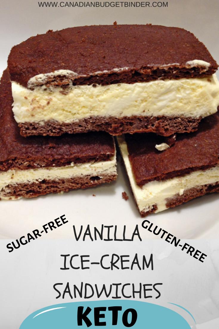 keto vanilla ice-cream sandwiches