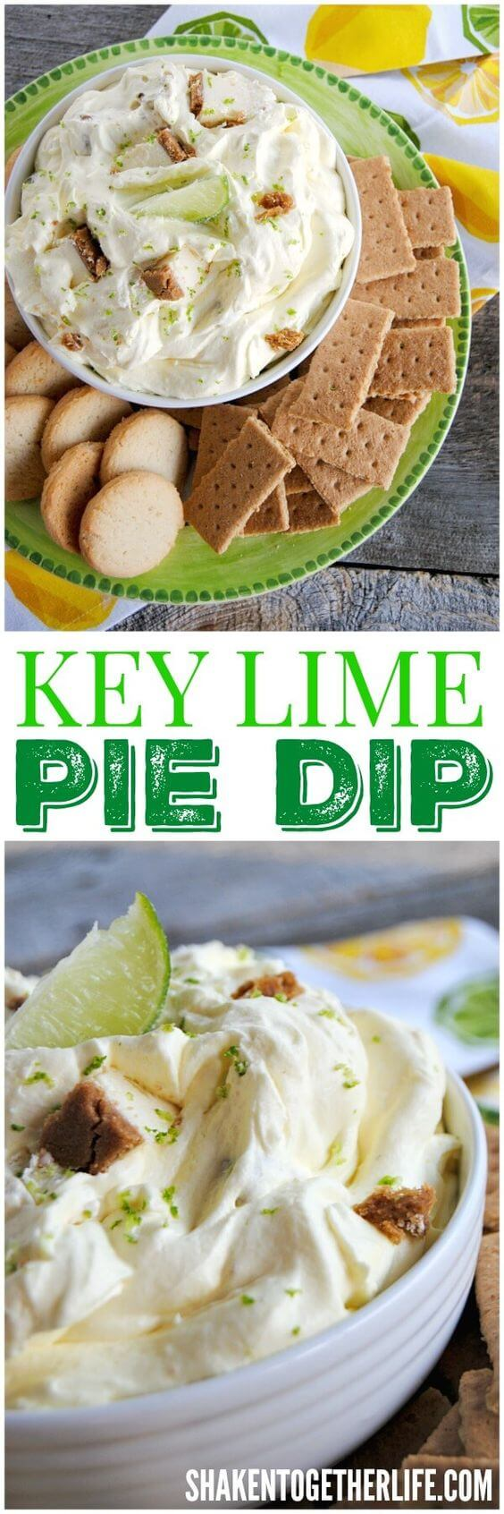 keylime pie dip with graham crackers