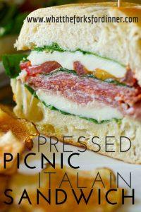 pressed picnic italian sandwich