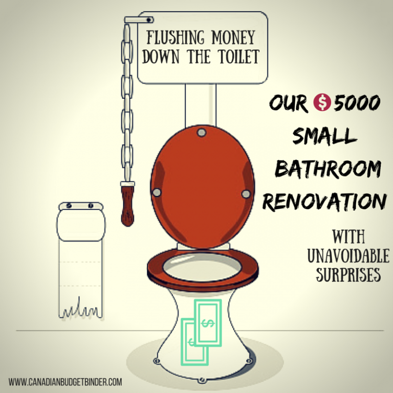 $5000 Small Bathroom Renovation With Unavoidable Surprises