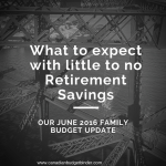 What to Expect With Little to No Retirement Savings : Our June 2016 Budget Report
