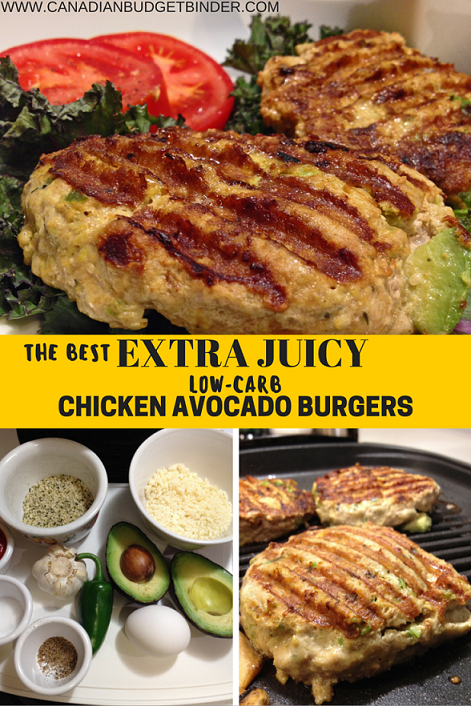 extra juicy chicken avocado burger