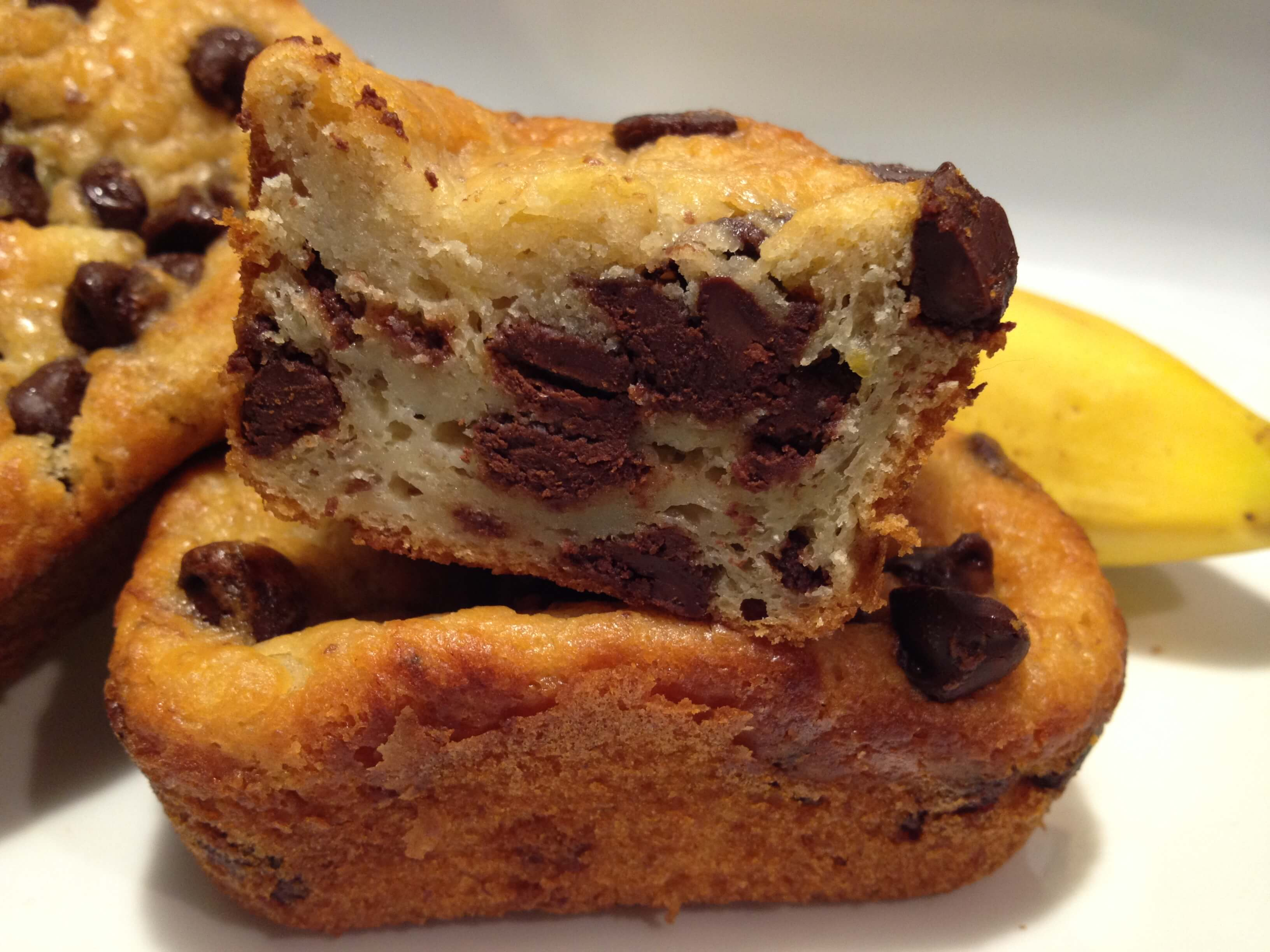 Banana chocolate chip muffins loaves 4Banana chocolate chip muffins loaves 4