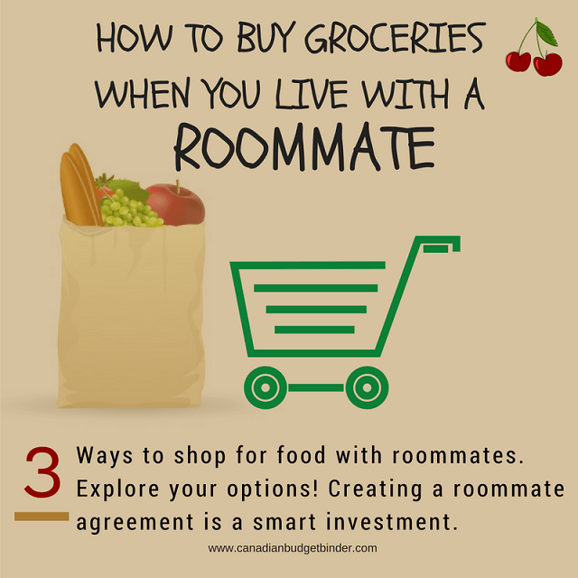 how to buy groceries with a roommate