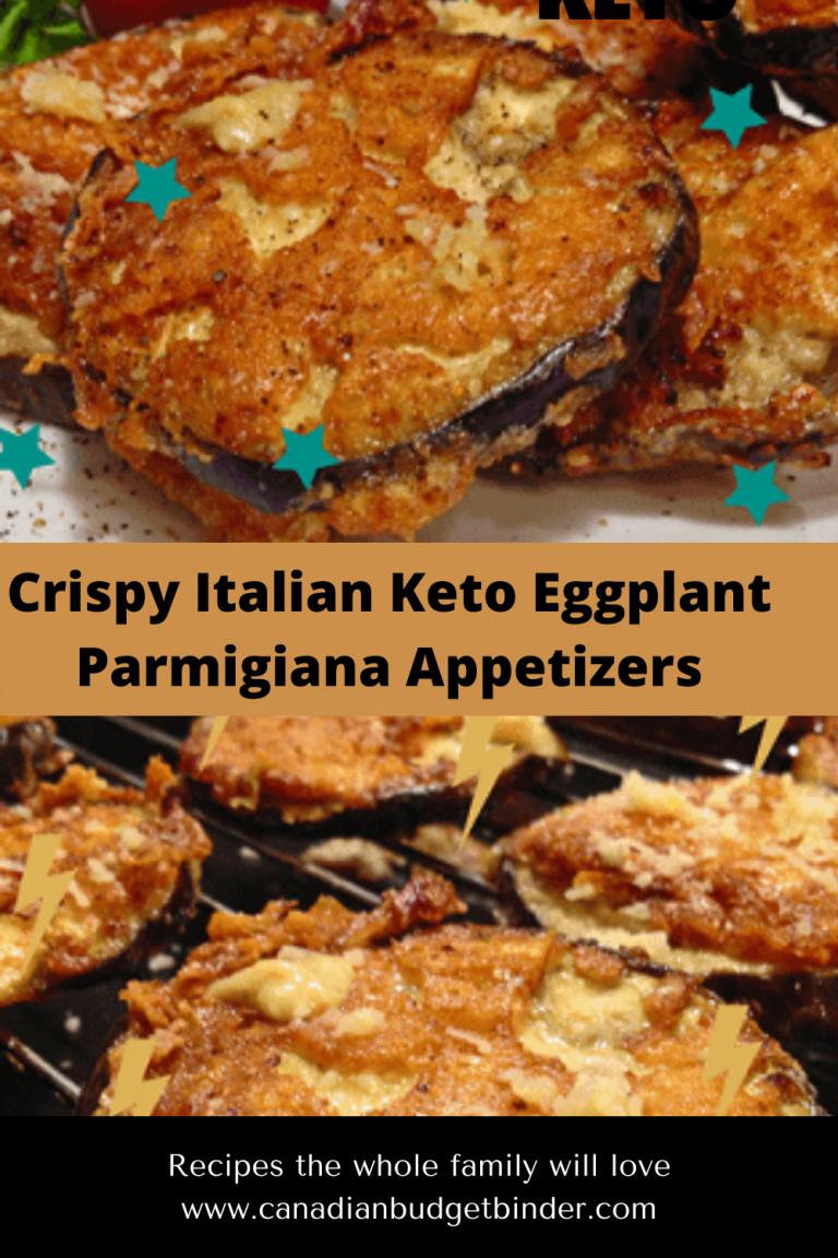 Keto Italian Eggplant Parmigiana Appetizers