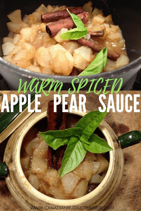 Warm Spiced Apple-Pear Sauce