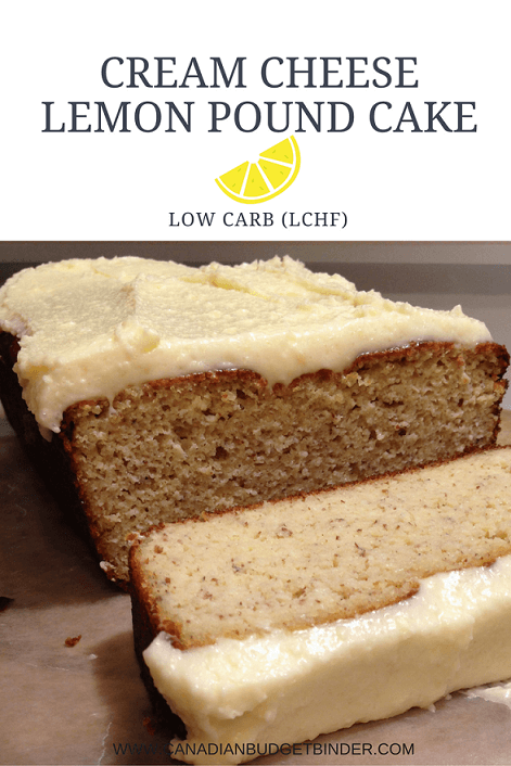 Keto Cream Cheese Lemon Pound Cake (Low-Carb)