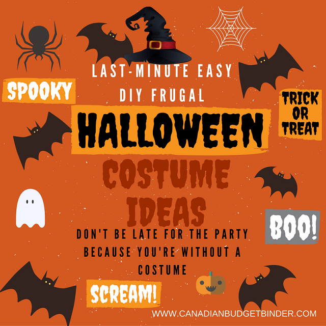 Last-Minute DIY Frugal Halloween Costume Ideas: The Saturday Weekend Review #196