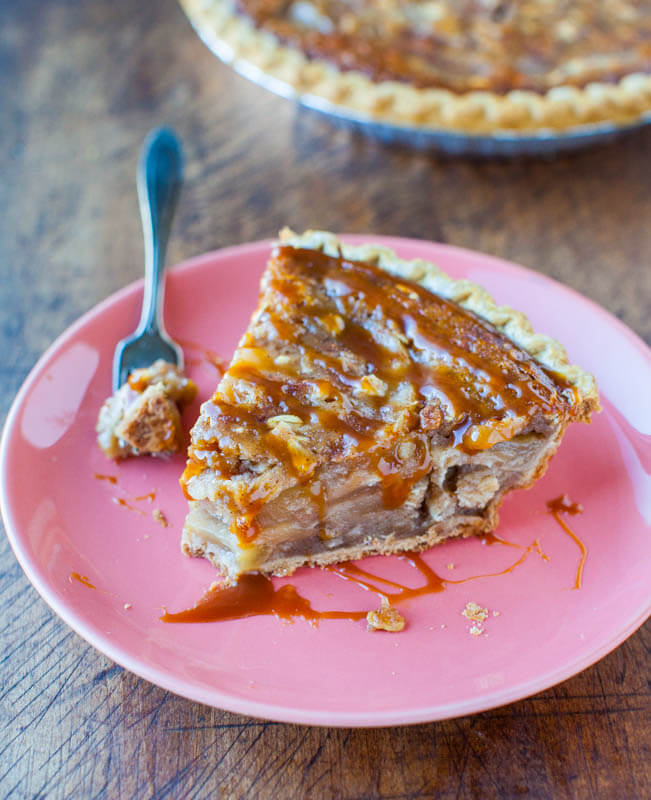 aramel-apple-crumble-pie