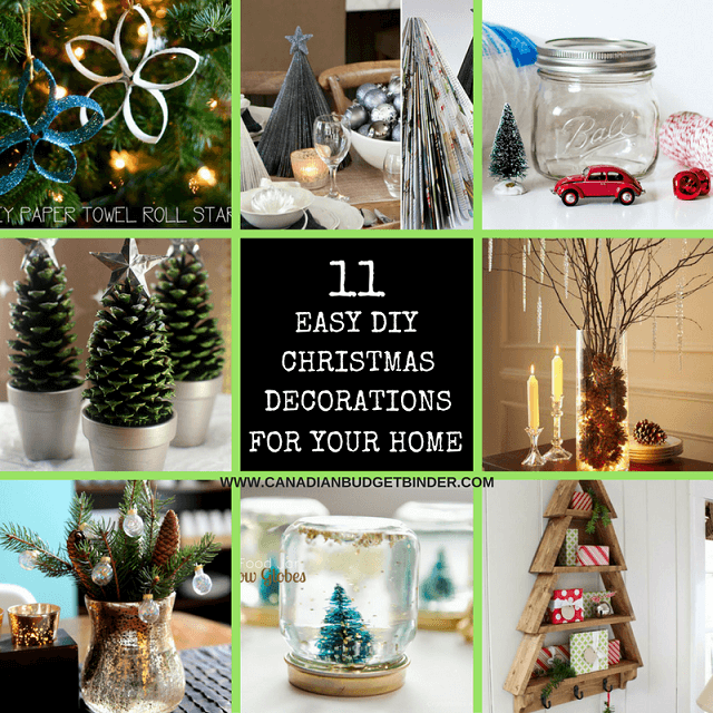 Simple Christmas Home Decorations: 11 DIY Easy Christmas Decorations For Your Home : The