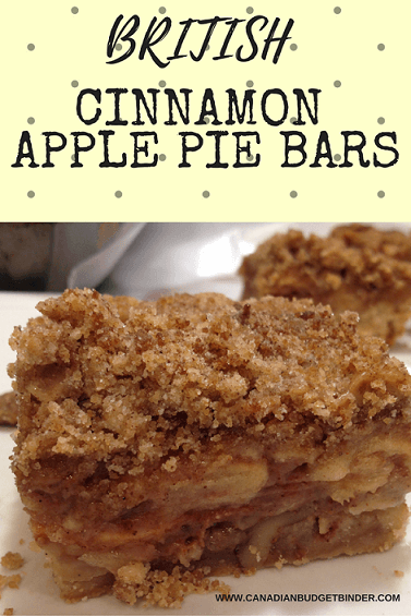British Cinnamon Apple Pie Bars
