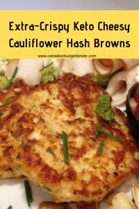 Extra-Crispy Keto Cheesy Cauliflower Hashbrowns