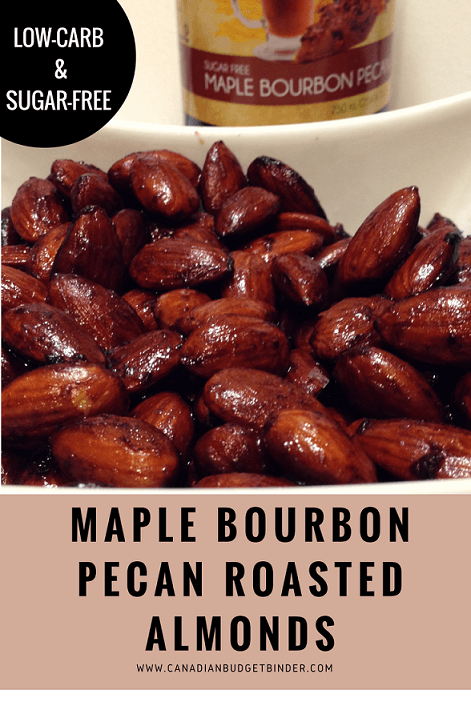 keto maple-bourbon-pecan-roasted-almonds-pinterest