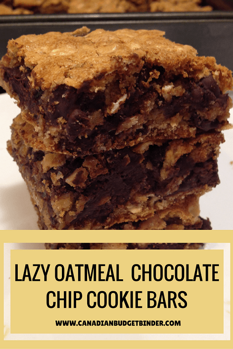 lazy oatmeal chocolate chip cookie bars main-pinterest