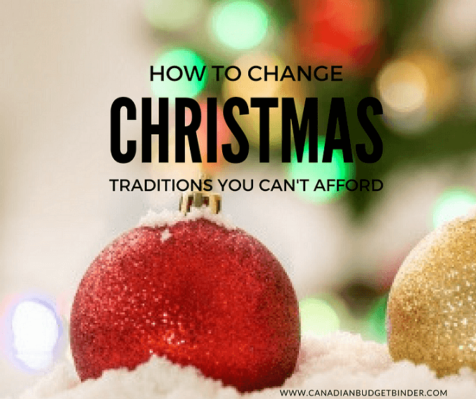 how to change christmas traditions you can't afford