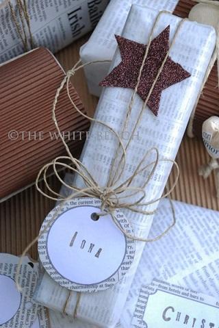 newspaper-christmas-wrapping