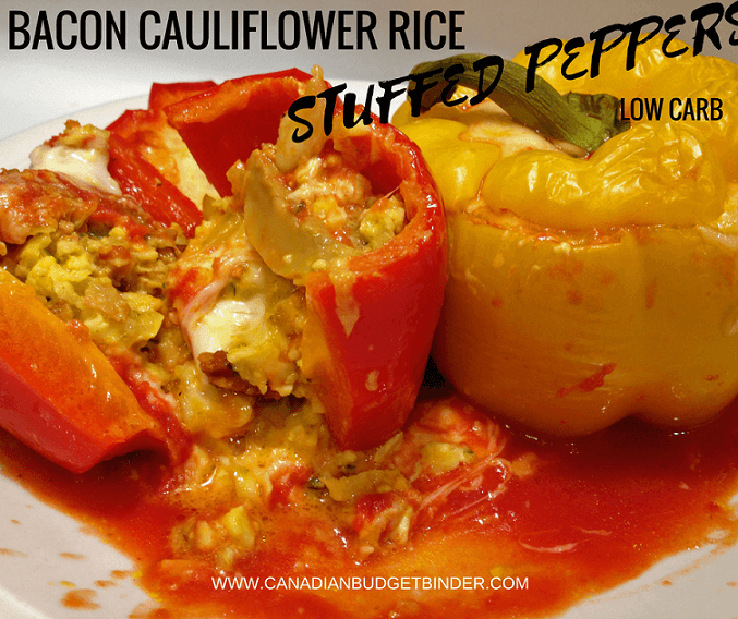 BACON CAULIFLOWER RICE STUFFED PEPPERS 4 FB