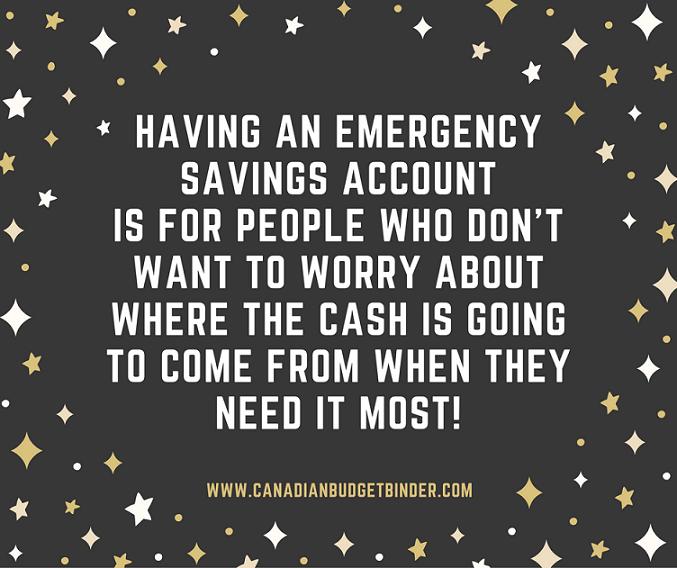 having an emergency savings account