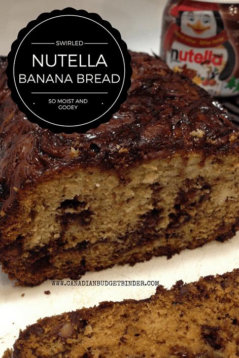 swirled nutella banana bread pinterest