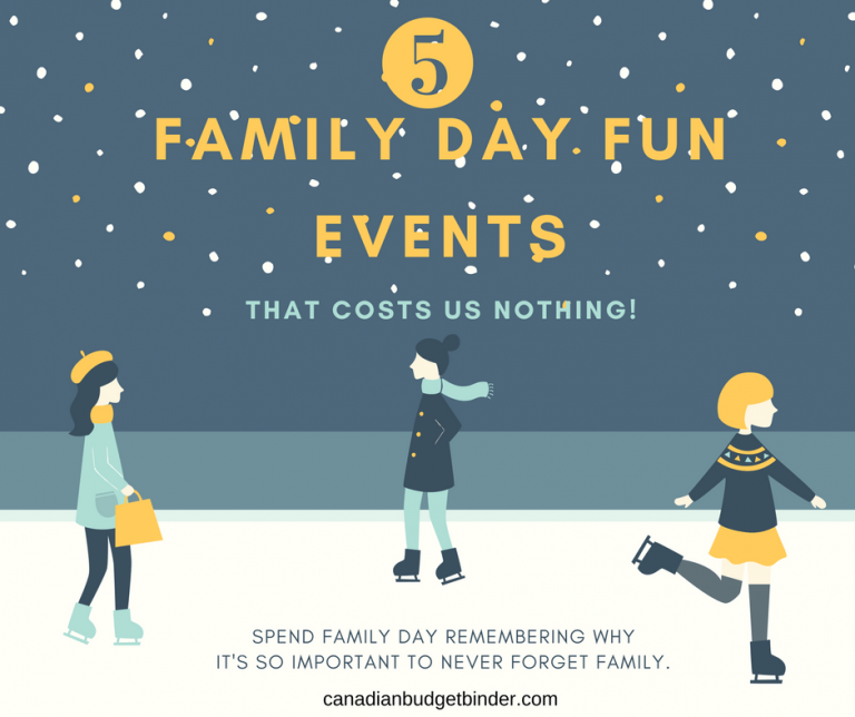 5 Family Day Fun Events That Cost Us Nothing : The Saturday Weekend Review #211