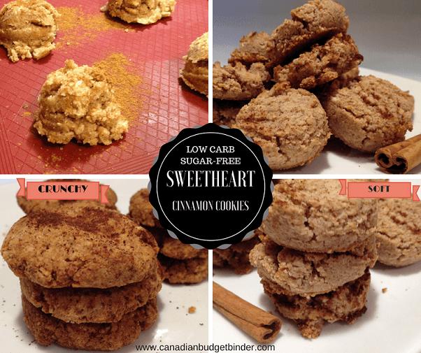 keto sweetheart cinnamon cookies photo collage