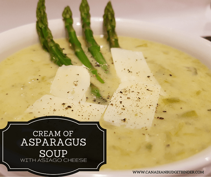 Cream of Asparagus Soup with Asiago Cheese (Low-Carb) (Gluten-Free ...