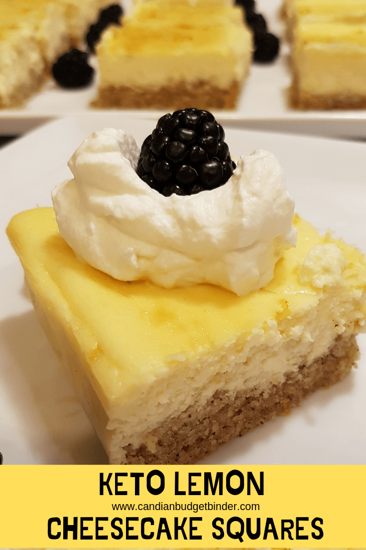 keto lemon cheesecake squares
