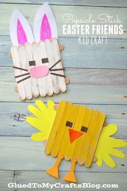 Popsicle Stick Easter Crafts Kids
