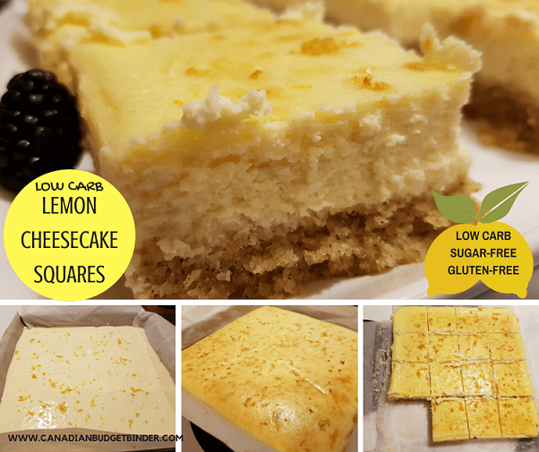 low carb lemon cheesecake squares fb. 2