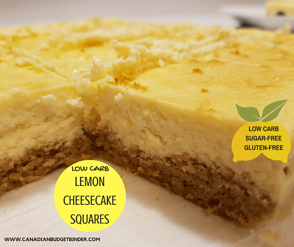 low carb lemon cheesecake squares fb. 3
