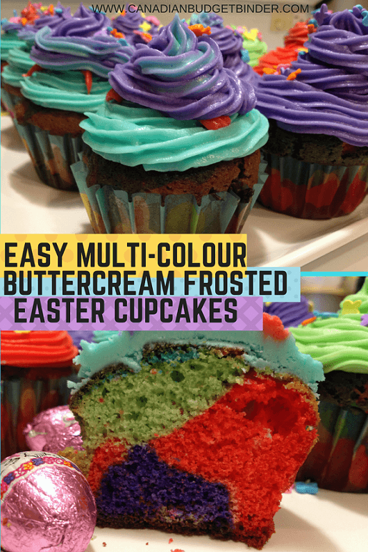 EASY MULTI-COLOUR Easter cupcakes with cut cupcake pinterestEASY MULTI-COLOUR Easter cupcakes with cut cupcake pinterest