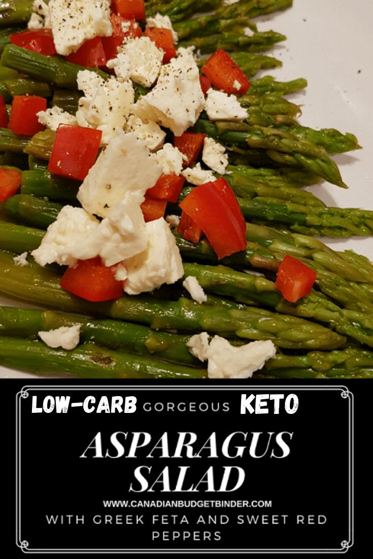 Asparagus Salad with Greek Feta Cheese (Keto)