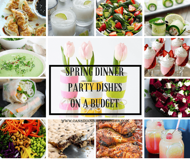 SPRING DINNER PARTY DISHES ON A BUDGET