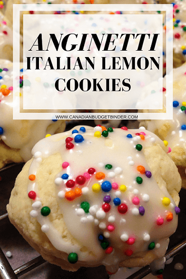 Anginetti Italian Lemon Cookies