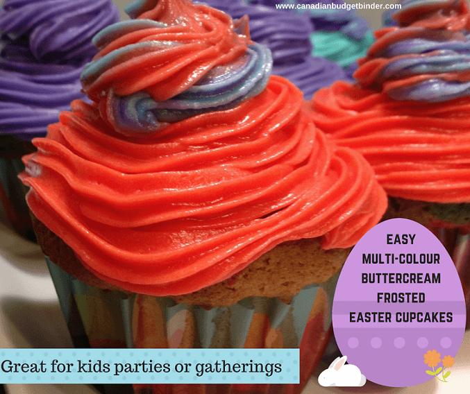easy multi-colourbuttercream frosted easter cupcakes 2 fb
