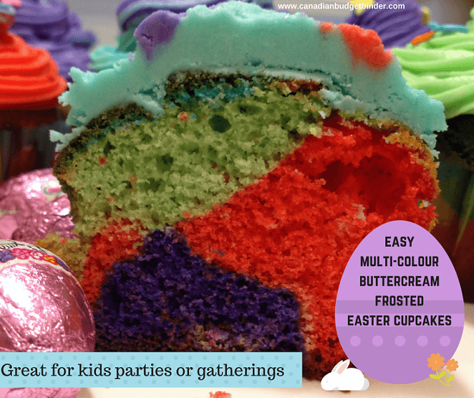 easy multi-colourbuttercream frosted easter cupcakes fb 3