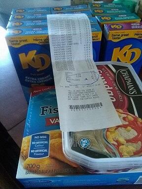 free groceries kraft dinner