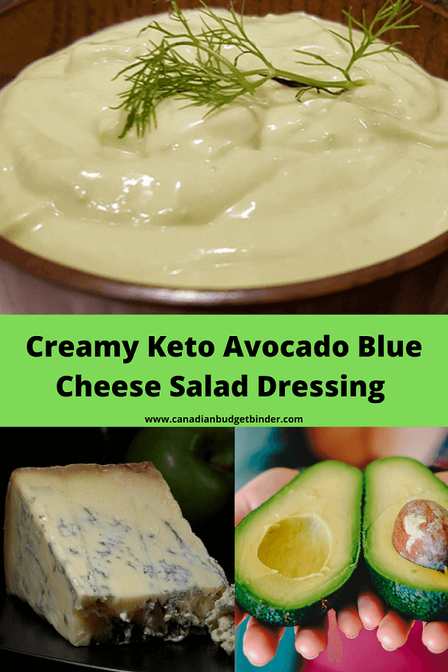 Creamy Keto Avocado Blue Cheese Salad Dressing (Low-Carb)