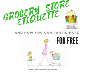 GROCERY STORE ETIQUETTE