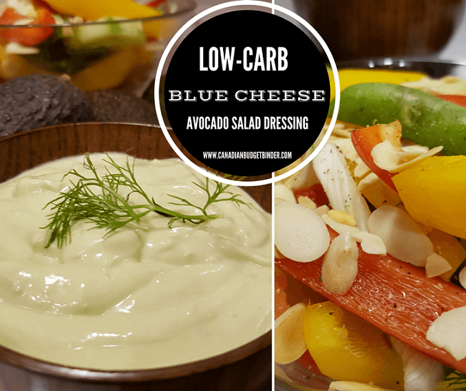 LOW CARB BLUE CHEESE AVOCADO SALAD DRESSING
