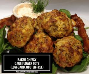 Baked Cheesy Cauliflower Tots 3 FB