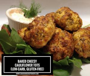 Baked Cheesy Cauliflower Tots 4 FB