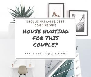 managing debt before house hunting