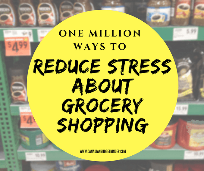reduce stress while grocery shopping