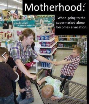 grocery shopping alone motherhod jokes