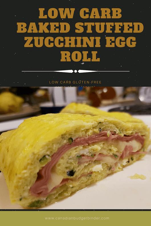 keto baked zucchini egg roll