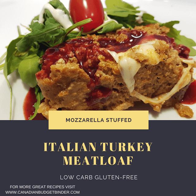 MOZZARELLA STUFFED ITALIAN TURKEY MEATLOAF F4
